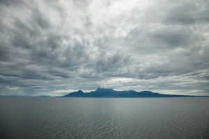 雲に覆われた雲仙岳