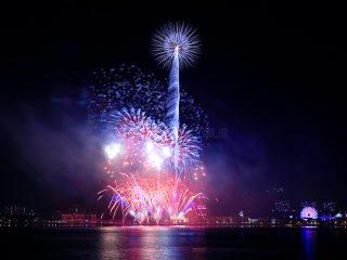 今年最初の花火の撮影